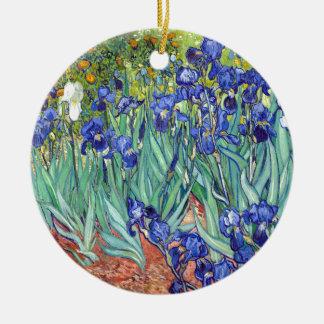 Vincent van Gogh 1889 Iris Keramik Ornament