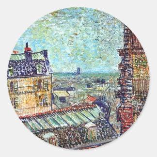 Vincent van Gogh - Ansicht der Runder Aufkleber