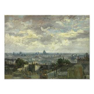 Vincent van Gogh - Ansicht von Paris Fotodruck