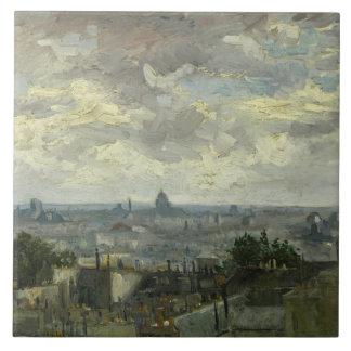 Vincent van Gogh - Ansicht von Paris Keramikfliese