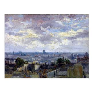 Vincent van Gogh-Ansicht von Paris Postkarte