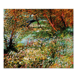 Vincent van Gogh - Banken der Seines im Frühjahr Poster