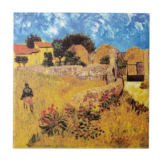 Vincent van Gogh - Bauernhaus in Provence-schöner Keramikfliese