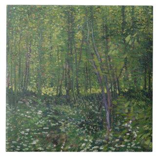 Vincent van Gogh - Bäume und Unterholz Keramikfliese