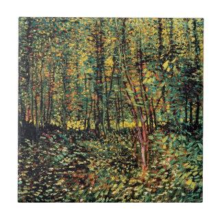 Vincent van Gogh - Bäume und Unterholz-schöne Keramikfliese