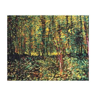 Vincent van Gogh - Bäume und Unterholz-schöne Leinwanddruck