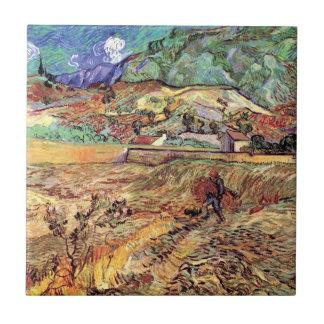 Vincent van Gogh - beiliegende Weizen-Feld-schöne Fliese