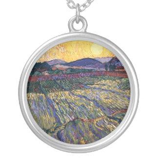Vincent van Gogh - beiliegendes Feld mit Versilberte Kette