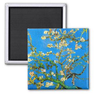 Vincent van Gogh - blühende Mandelbaum-schöne Quadratischer Magnet