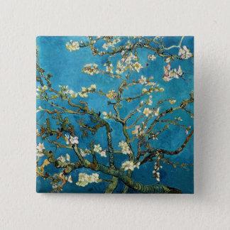 Vincent van Gogh, blühender Mandelbaum Quadratischer Button 5,1 Cm