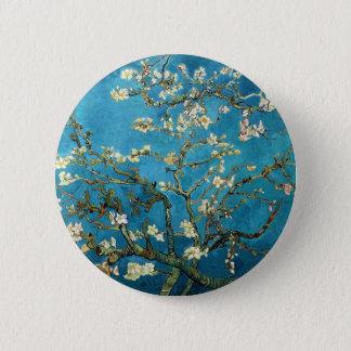 Vincent van Gogh, blühender Mandelbaum Runder Button 5,1 Cm