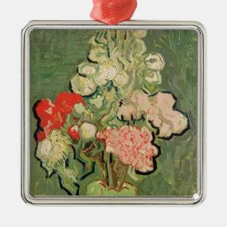 Vincent van Gogh | Blumenstrauß der Blumen, 1890 Quadratisches Silberfarbenes Ornament