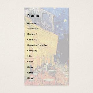 Vincent van Gogh - Café-Terrasse an der Visitenkarte