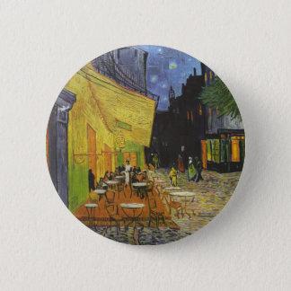 Vincent van Gogh - Café-Terrasse nachts Runder Button 5,7 Cm