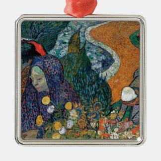 Vincent van Gogh - Damen von Arles Quadratisches Silberfarbenes Ornament