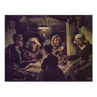 Vincent van Gogh - das Kartoffel eaterspng Postkarte