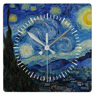 Vincent van Gogh - das Meisterwerk der Quadratische Wanduhr