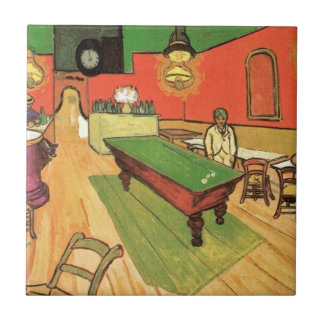 Vincent van Gogh - das Nachtcafé in Arles Keramikfliese