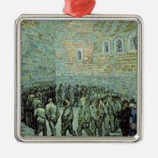 Vincent van Gogh | das Übungs-Yard Quadratisches Silberfarbenes Ornament