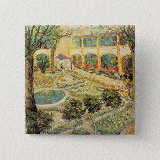Vincent van Gogh | der Asyl-Garten bei Arles Quadratischer Button 5,1 Cm