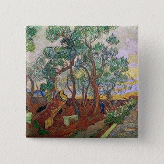 Vincent van Gogh | der Garten von St- Quadratischer Button 5,1 Cm