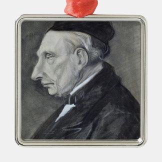 Vincent van Gogh | der Großvater des Künstlers Quadratisches Silberfarbenes Ornament