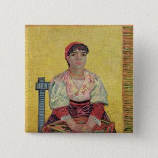 Vincent van Gogh   der Italiener: Agostina Quadratischer Button 5,1 Cm