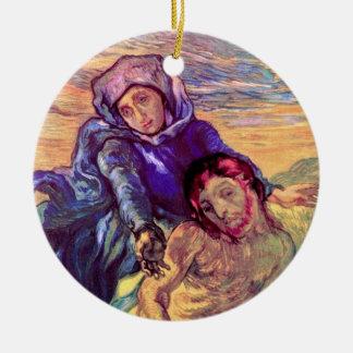 Vincent van Gogh - der Pieta - Jesus u. Jungfrau Keramik Ornament