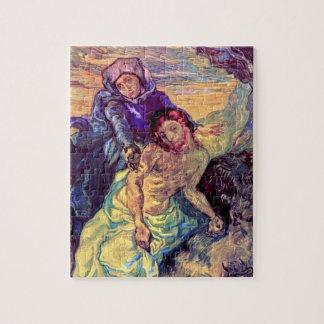 Vincent van Gogh - der Pieta - Jesus u. Jungfrau Puzzle