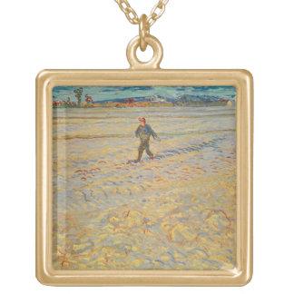 Vincent van Gogh | der Sower, 1888 Vergoldete Kette