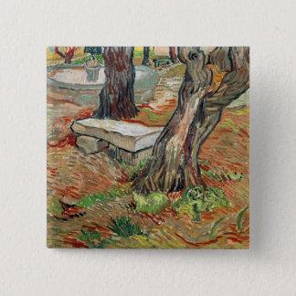 Vincent van Gogh | die Bank am Heiligen-Remy Quadratischer Button 5,1 Cm