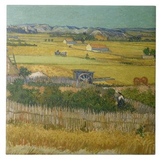Vincent van Gogh - die Ernte Keramikfliese