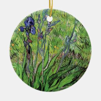 Vincent van Gogh - die Iris-Natur-Liebhaber-schöne Keramik Ornament