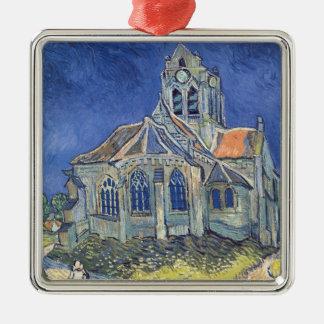 Vincent van Gogh | die Kirche am Auvers-sur-Oise Quadratisches Silberfarbenes Ornament