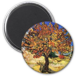 Vincent van Gogh - die Maulbeerbaum-schöne Kunst Runder Magnet 5,1 Cm