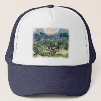 Vincent van Gogh, die Olivenbäume.  Berühmte Kunst Truckerkappe