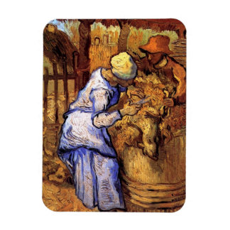 Vincent van Gogh - die Schaf-Schermaschinen - Magnet