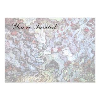 Vincent van Gogh - die Schlucht (Les Peiroulets) 12,7 X 17,8 Cm Einladungskarte