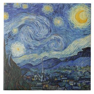 Vincent van Gogh | die sternenklare Nacht, im Juni Fliese