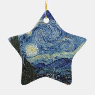 Vincent van Gogh | die sternenklare Nacht, im Juni Keramik Ornament