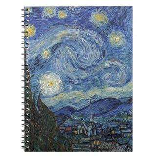 Vincent van Gogh | die sternenklare Nacht, im Juni Notizblock