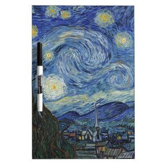 Vincent van Gogh   die sternenklare Nacht, im Juni Trockenlöschtafel
