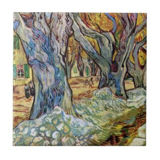 Vincent van Gogh - die Straßen-Ausbesserer - Fliese