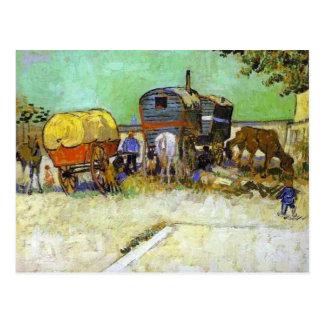 Vincent van Gogh- die Wohnwagen - Sinti und Postkarte