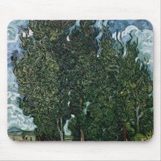 Vincent van Gogh | die Zypressen, c.1889-90 Mousepad