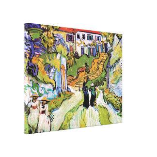 Vincent van Gogh - Dorf-Straße und Schritte Leinwanddruck