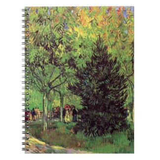 Vincent van Gogh - ein Weg im Allgemeinen Garten Notizblock