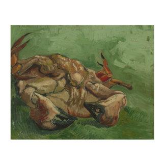 Vincent van Gogh - eine Krabbe auf seiner Holzleinwand