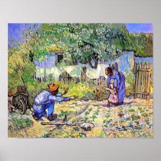 Vincent van Gogh - erste Schritte - der Poster