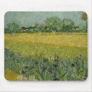 Vincent van Gogh - Feld mit Blumen nähern sich Mousepad